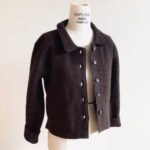 Vintage 90s Wool Bouclé Blazer Jacket